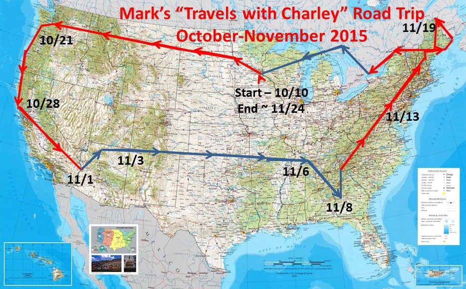 A Preview of My Travels With Charley Road Trip epiloguejourney – Travels With Charley Map